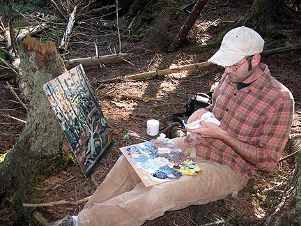 Painting on Monhegan Island 2008